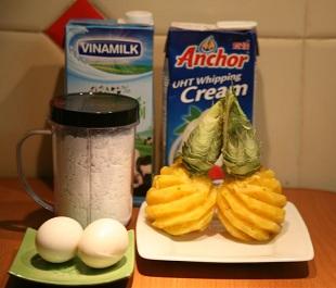 Cách làm kem dứa đơn giản giải nhiệt mùa hè, cach lam kem dua don gian giai nhiet mua he