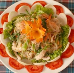 Cách làm salad miến hải sản đơn giản mà ngon, cach lam salad mien hai san don gian
