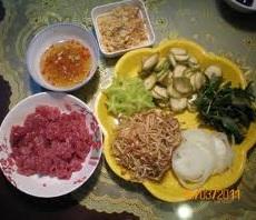 Hướng dẫn làm món bò bóp thấu, huong dan lam mon bo bop thau