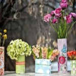 Các ý tưởng làm lọ hoa từ vỏ hộp cũ, cac y tuong sang tao lam lo hoa tu vo hop cu