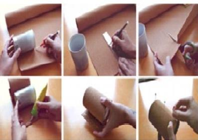 Cách làm lọ hoa từ vỏ hộp, cach lam lo hoa tu vo hop