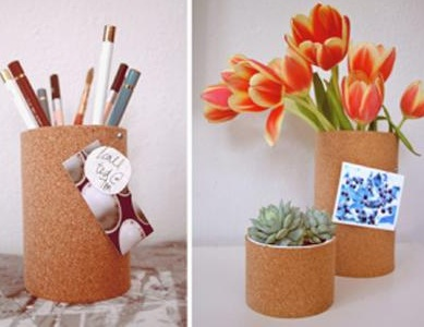 Sáng tạo làm lọ hoa từ vỏ đồ hộp cũ, sang tao lam lo hoa tu vo do hop cu