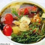 Cách nấu món canh nghêu chua ngọt mát hấp dẫn