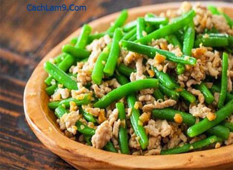 Cách làm món đậu đũa xào tôm thịt băm cực ngon