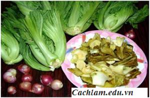 Cách làm dưa cải muối chua, cách muối dưa cải chua và ngon