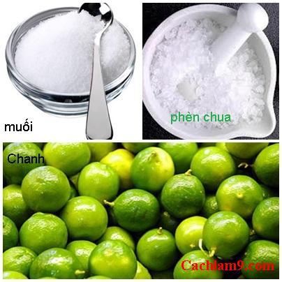 Nguyên liệu làm món chanh muối và hướng dẫn cách làm chanh muối ngon