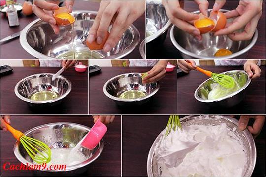 Hướng dẫn làm bánh bông lan tại nhà