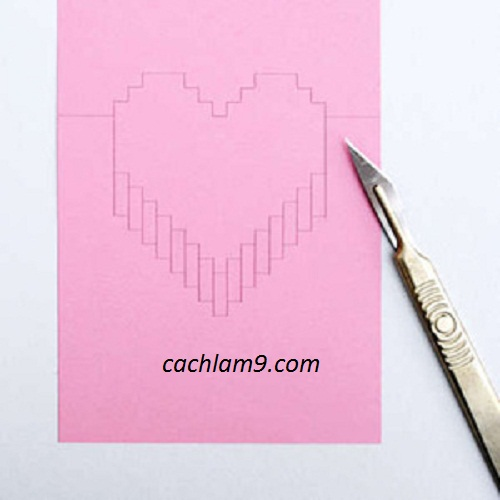 Các bước làm thiệp nổi trái tim tặng người yêu