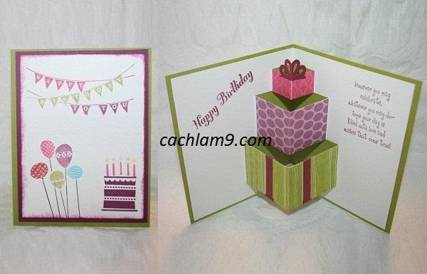 Hướng dẫn làm thiệp tặng bạn bè nhân dịp sinh nhật