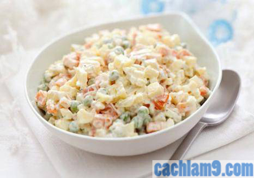 Cách làm salad Nga đúng vị nhất
