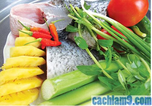 Các nguyên liệu nấu canh chua cá quả