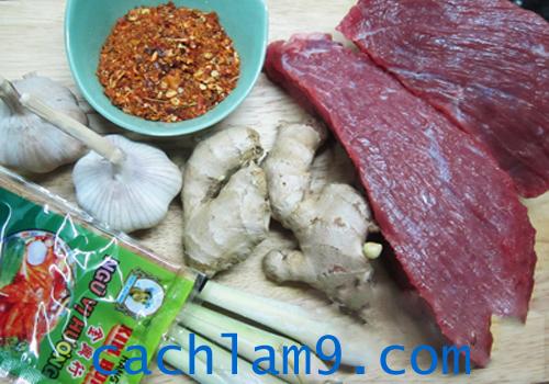 Nguyên liệu làm thịt bò khô sợi ngon tại nhà