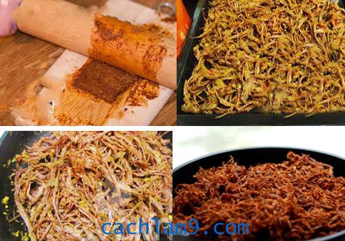 Sấy khô và hoàn thiện thịt bò khô