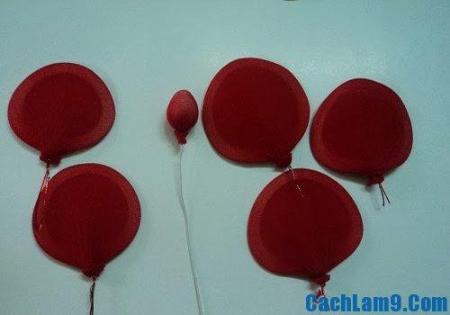 Cách làm cánh hoa, nhụy hoa hồng từ vải voan