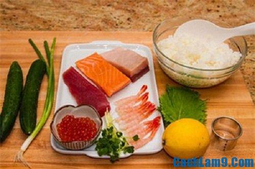 Nguyên liệu và hướng dẫn cách làm sushi