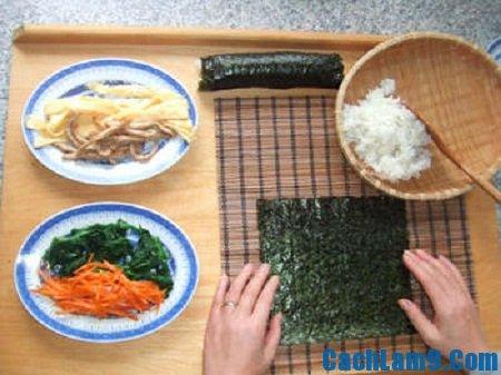 Hướng dẫn các bước chuẩn bị làm sushi ngon