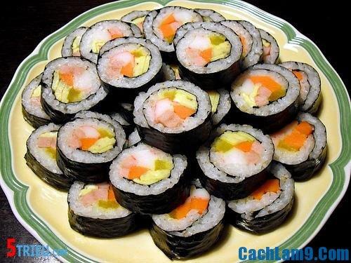 Cách làm sushi, nguyên liệu và các bước làm sushi Nhật Bản
