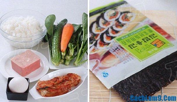 Các nguyên liệu làm sushi Nhật Bản
