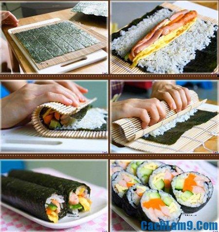 Các bước cuộn sushi ngon