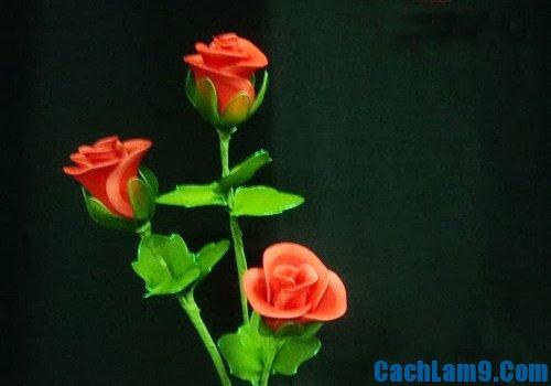 Cách làm hoa hồng bằng vải voan đơn giản nhất mà đẹp