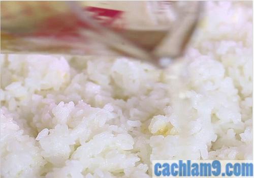 Chuẩn bị nguyên liệu làm sushi Nhật Bản