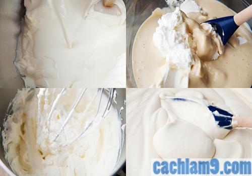 Cách làm kem cho bánh Tiramisu