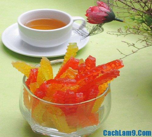 Cách làm mứt thạch rau câu ngon đẹp