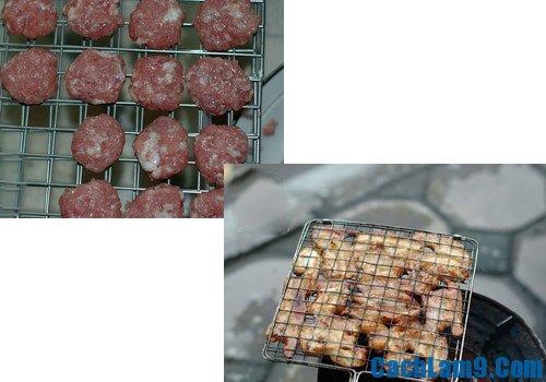 Hướng dẫn nướng thịt làm bún chả