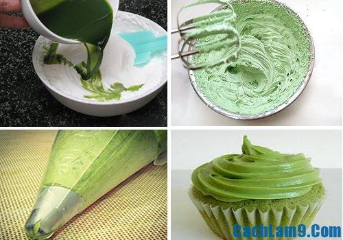 Hướng dẫn tự làm bánh cupcake trà xanh tại nhà