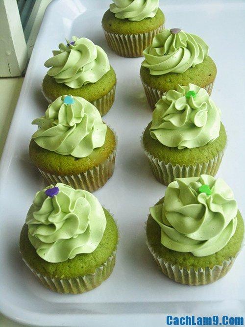 Cách làm bánh cupcake trà xanh ngon, đẹp và bổ dưỡng