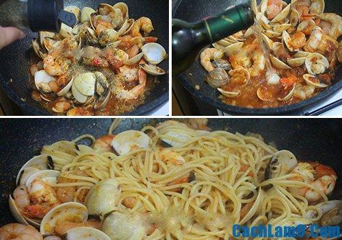 Cách làm spaghetti hải sản, hướng dẫn làm mỳ Ý hải sản