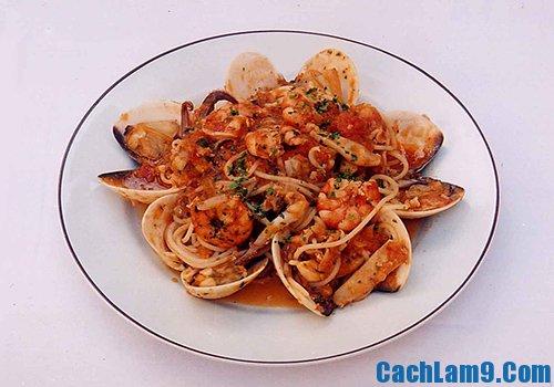 Cách làm mỳ spaghetti hải sản ngon, đẹp