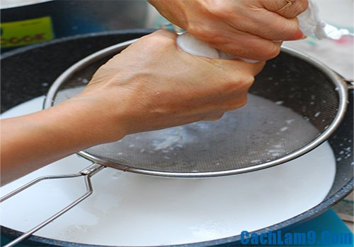 Cách làm nước cốt dừa nguyên chất