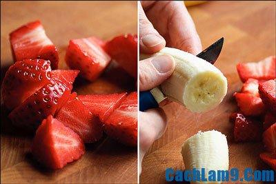 Cách làm kem dâu chuối đơn giản