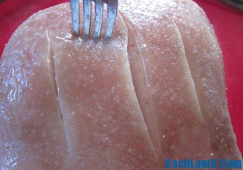 Cách làm thịt heo quay vàng giòn