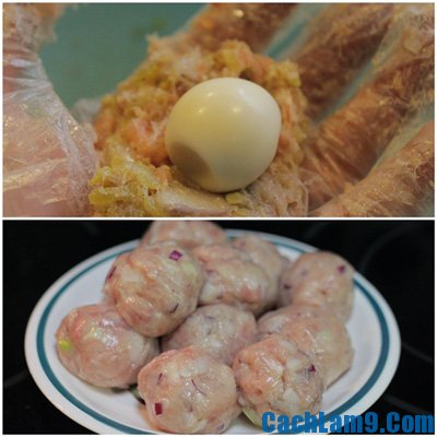 Thực hiện cách làm thịt viên trứng cút chiên giòn, thuc hien cach lam thit vien trung cut chien gion