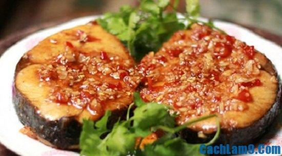 Thành phấm món cá ngừ rim tỏi ớt