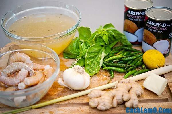 Nguyên liệu làm súp tôm cua