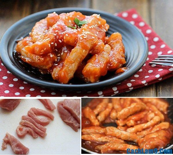 Thực hiện thịt heo nạc thăn sốt chua ngọt lạ mà ngon
