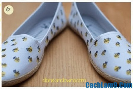 Hoàn thành xong cách trang trí giày lười