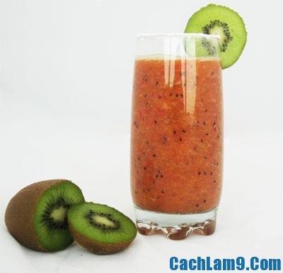 Cách pha chế sinh tố kiwi dâu tây, cach pha che sinh to kiwi dau tay