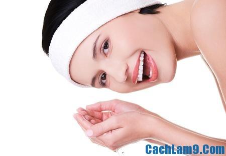 Cách rửa mặt chống lão hóa