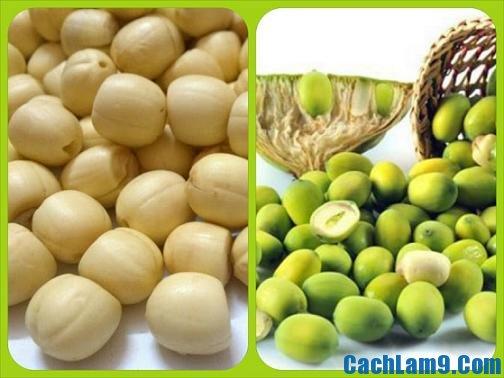 Chuẩn bị nguyên liệu nấu chè hạt sen dừa tươi