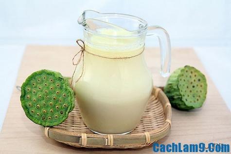 Yêu cầu và thưởng thức sữa hạt sen