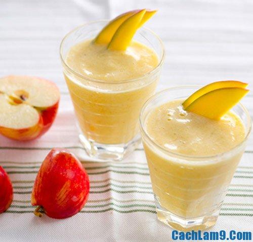 Hướng dẫn các bước làm sinh tố táo