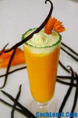 Bí quyết pha chế sinh tố cam cà rốt