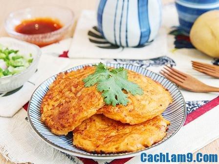 Ngon mê mẩn cùng cách làm bánh trứng khoai tây bổ dưỡng