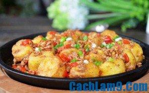 Cách làm đậu phụ sốt thịt băm, cach lam dau phu sot thit bam