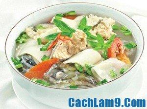 Cách nấu canh cá lóc măng chua, cach nau canh ca loc mang chua