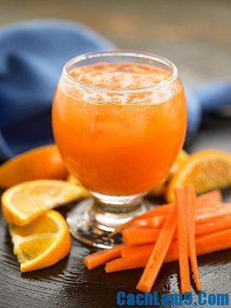 Cách pha chế sinh tố cam cà rốt